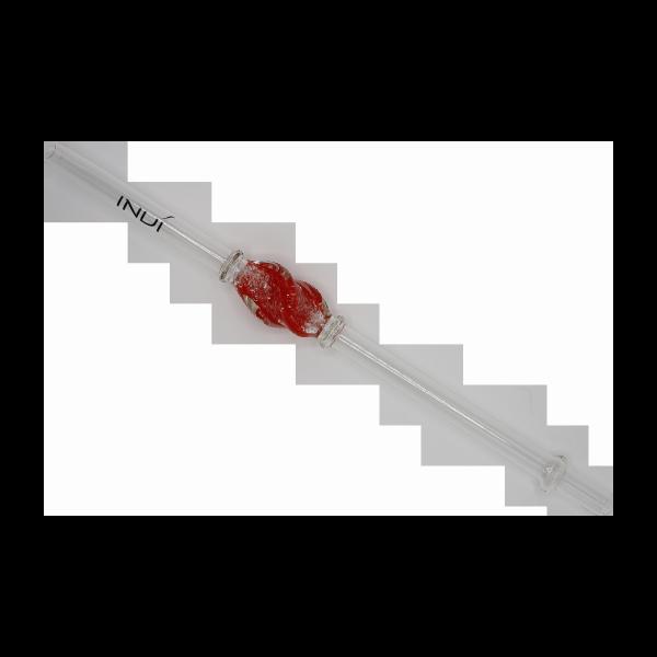 INVI Glasmundstück Twister Rot