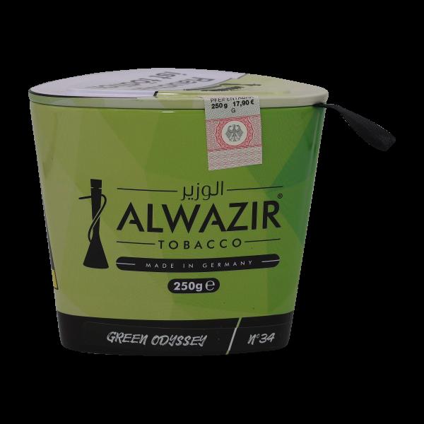 Alwazir Tobacco No.34 GREEN ODYSSEY 250g